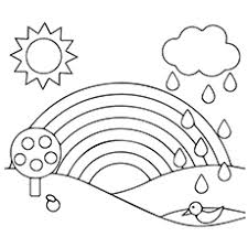rainbow coloring pages. Brilliant Pages Rainbow And Rain 16 Inside Coloring Pages MomJunction