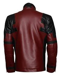 deadpool red and black jacket 129 00 229 00