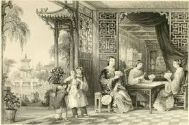 women s history ladies of a mandarin s family at cards thomas allom g n wright 1843 in a series of views displaying the scenery architecture