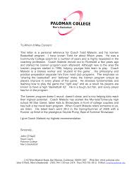 Letters Of Recommendation For Jobs Template Letter Of Recommendation For A Coaching Job Templates At