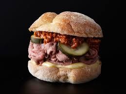 gross roast beef sandwich. Plain Roast Roast Beef Sandwich With Walnut Romesco Throughout Gross O