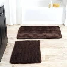 memory foam bathroom mat set 2 piece memory foam bath mat set grey memory foam bath