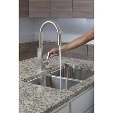 Moen Kitchen Faucet Hands Free Moen S72308esrs Sto Spot Resistant Stainless Steel Pullout Spray