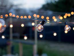 how to hang outdoor string lights from