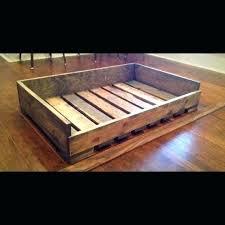 wooden dog bed frame more more wood dog bed diy dog bed frame pallet