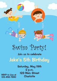 free birthday invitation template for kids pool party invitations templates free free printable pool party