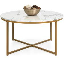 coffee table with xbase faux marble