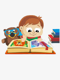 child reading color book cartoon png image and clipart