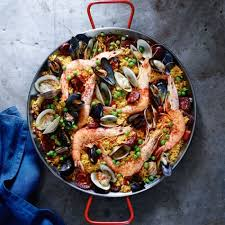 spanish paella with chorizo and seafood williams sonoma