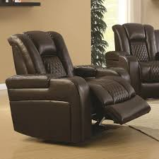 Coaster Delangelo Casual Power Recliner With Cup Holders Storage Console  And USB Port  Fine Furniture Recliner Cup Holder Storage U13