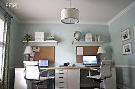 pinterest office desk. Decoration: 16 Home Office Desk Ideas For Two Pinterest Desks With Double W