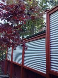 corrugated metal fence panels. Vertical Metal Fence Panels Fencing Pinterest Rhpinterestcom A Galvanized Creates Clean Modern Edge Corrugated