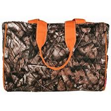 23 best C& diaper bags images on Pinterest | Baby burp cloths ... & $15.50 Quilted BNB Natural Camoâ?¢ Diaper Bag with Orange Trim Adamdwight.com