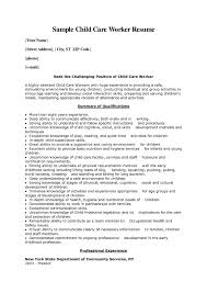 Daycare Resume Examples 263798 Child Care Worker Cover