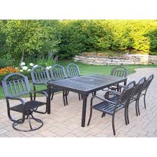 oakland living rochester 9piece patio dining set with 2 swivel chairs 9 piece patio dining set n38