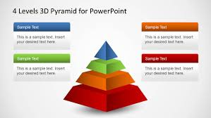 Pyramid Powerpoint 4 Levels 3d Pyramid Template For Powerpoint Slidemodel