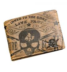 jack s inn 54 tequila skull leather wallet