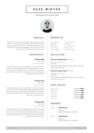 Minimalist Resume Template Minimal Resume Template For Word 1 2 Page ...