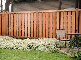 semi-private wood fence