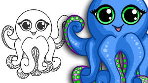 Small Picture How to draw an Octopus Super cute Easy Step By Step Drawing