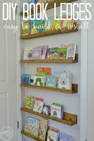 What a great way to use wasted space behind a door! These shelves are cheap