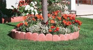 scalloped curved garden edging garden