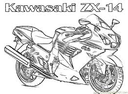 Small Picture Motorcycle Kawasaki Coloring Page Free Bikes Coloring Pages