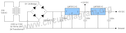12v 5v power supply circuit diagram 12v 5v power supply circuit diagram