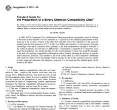 Chemical Compatibility Chart Pdf Astm E 2012 00 Pdf Free Download Civil Engineers Standards