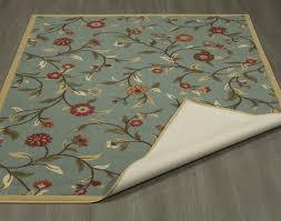 ottomanson ottohome collection fl garden design modern area rug with non skid rubber backing 8 2 x9 10 seafoam ottomanson