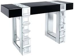 black glass console table contemporary mirrored glass large console table with black glass detailing black metal