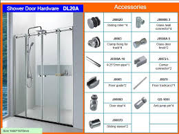 partition bathroom glass door hardware dl20a