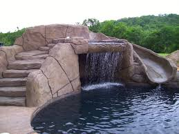 Image Org Swimming Pool Builder Waterfall Stairs Grotto Slide Aquacrete Aquacrete In Ground Swimming Pool Builder Bentonville Aquacrete