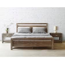 Grain Wood Furniture Loft Solid Wood Queen size Panel Platform Bed