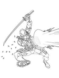 Deadpool Coloring Pages Easy Pictures 27 Get Coloring Page