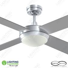 brushed aluminium intercept 2 52 ceiling fan with 2 x e27 light