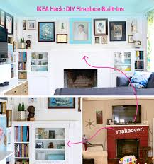 Fireplace Built Ins Ikea Hack Diy Fireplace Built Ins The Paper Mama