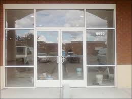 commercial glass door entry way installation