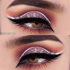 21 pink eye makeup looks for blue eyes