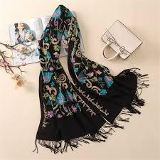 Designer Shawls And Wraps Senarai Harga 2018 Designer Fashion Embroidery Cashmere