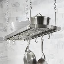 j k adams large grey ceiling pot rack crate and barrel in mounted design 10