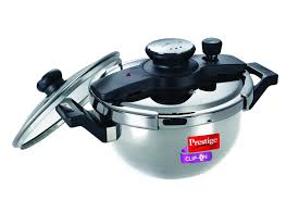 Prestige Kitchen Appliances Buy Prestige Clip On Stainless Steel Kadai Pressure Cooker With