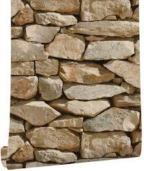 HaokHome 57802 Faux Stone Wallpaper ...