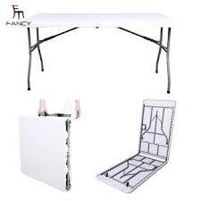 whole popular bi fold granite white plastic folding table for 72 round