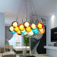 colored glass lighting. Interesting Lighting New Glass Ball Pendant Lamp Chandelier Spheres Modern Color  Bubble 12151925 Head Led Crystal Chandeliers Large Ceiling Lights Lighting  On Colored