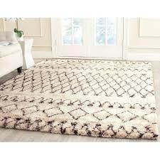 brown and white rug. Shop Safavieh Handmade Casablanca Moroccan Flokati Shag Ivory Dark Satisfying Black And White Rug Prodigous 2 Brown