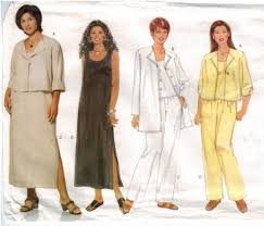 Butterick Plus Size Patterns Gorgeous Butterick 48 Pullover Tank Top And Dress Jacket Pants Plus Size