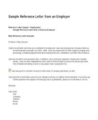 Writing A Recommendation Letter For An Employee Employee Reference Letter Examples Job Recommendation Letters
