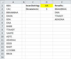 excel count a string in a cell range