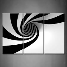 piece black and white wall art painting grey black white hole